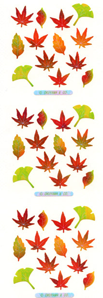 YA144 AURORA STICKERS AUTUMN LEAVES