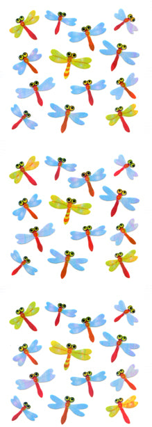 YA189 AURORA STICKERS DRAGONFLIES