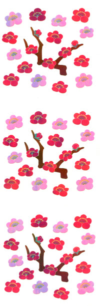 YA219 AURORA STICKERS PLUM TREES