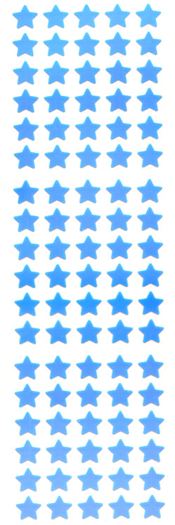 YA507 AURORA STAR STICKERS MINI BLUE STARS
