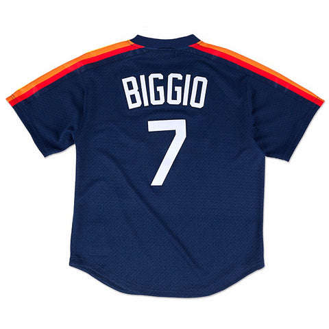 Craig Biggio Houston Astros MLB Mitchell & Ness Men's Navy Blue 1991 Authentic Throwback Batting Practice Jersey