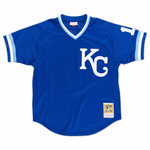 Bo Jackson Kansas City Royals MLB Mitchell & Ness Men's Blue 1989 Authentic Throwback Batting Practice Jersey
