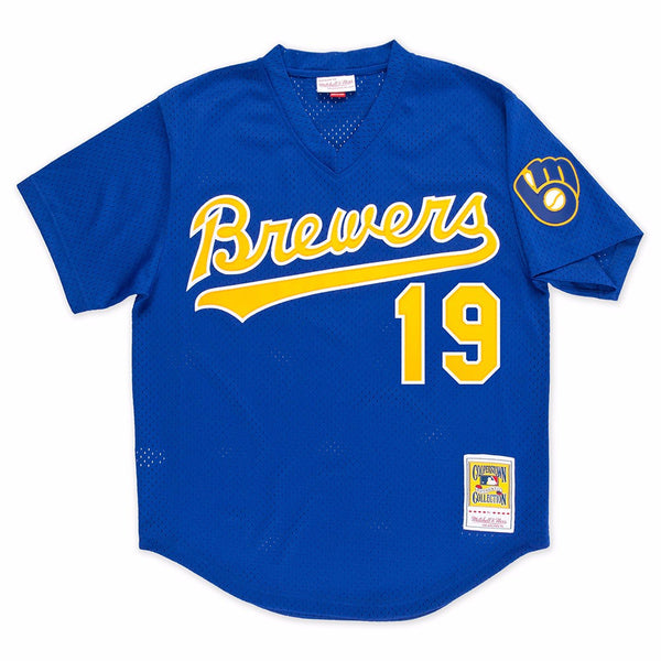 Robin Yount Milwaukee Brewers MLB Mitchell & Ness Men's Blue 1991 Authentic Throwback Batting Practice Jersey