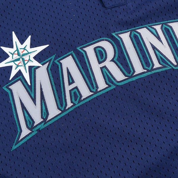 Randy Johnson Seattle Mariners MLB Mitchell & Ness Men's Navy Blue 1995 Authentic Throwback Batting Practice Jersey