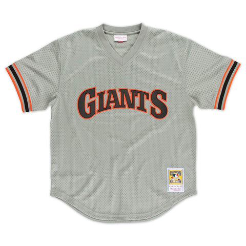 Matt Williams San Francisco Giants MLB Mitchell & Ness Men's Grey 1989 Authentic Throwback Batting Practice Jersey