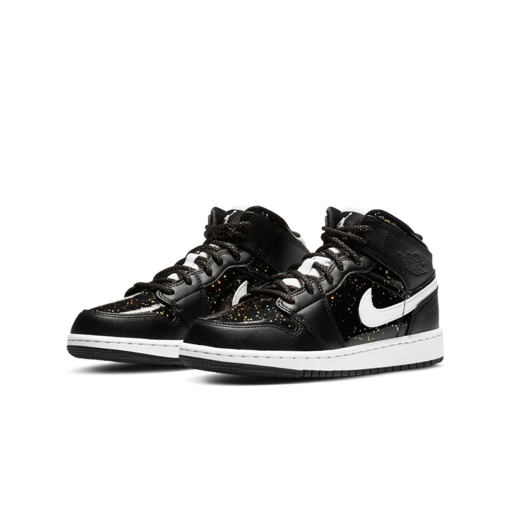 Air Jordan 1 Mid SE 'Black Glitter' GS AV5174-001