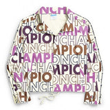 Champion LIFE Big Block Text Cropped Jacket Women