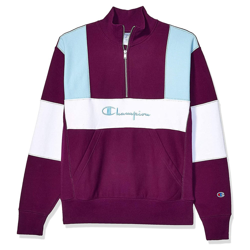 Champion LIFE Reverse Weave Colorblock 1/4 Zip Sweatshirt