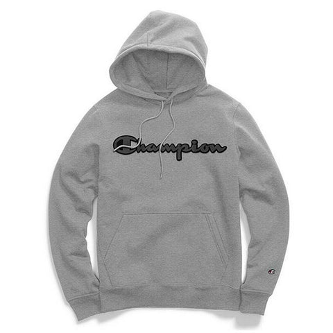 Champion LIFE Champion LIFE Men's Super Fleece 2.0 Pullover w/ Graphic Oxford Gray Hoodie Hoodie