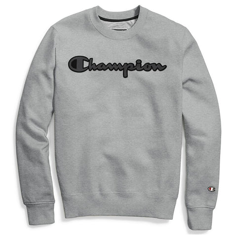 Champion LIFE Champion LIFE Men's Super Fleece 2.0 Crew w/ Graphic Oxford Gray Sweatshirt Sweatshirt