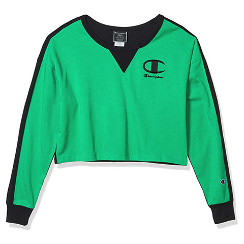 Champion LIFE Champion LIFE Women's Long Sleeve T-Shirt Green Field/Black T-Shirt Shirt