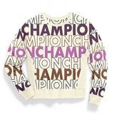 Champion LIFE Champion LIFE Women's Reverse Weave Big Block Text Mix Chalk White Sweatshirt Sweatshirt