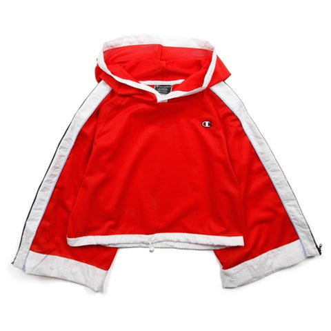 Champion LIFE Champion LIFE Women's Cropped Mesh Red Spark Hoodie Hoodie