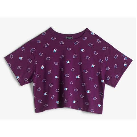 Champion LIFE Champion LIFE Women's Short Sleeve Tossed C Logo Venetian Purple T-Shirt Shirt