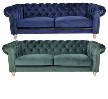 Load image into Gallery viewer, Panama 3 Seater Velvet Sofa – 2 Colour Options