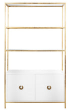 Load image into Gallery viewer, Wyatt Lacquer Cabinet - (Imported) Gold Leaf or Nickel Plated