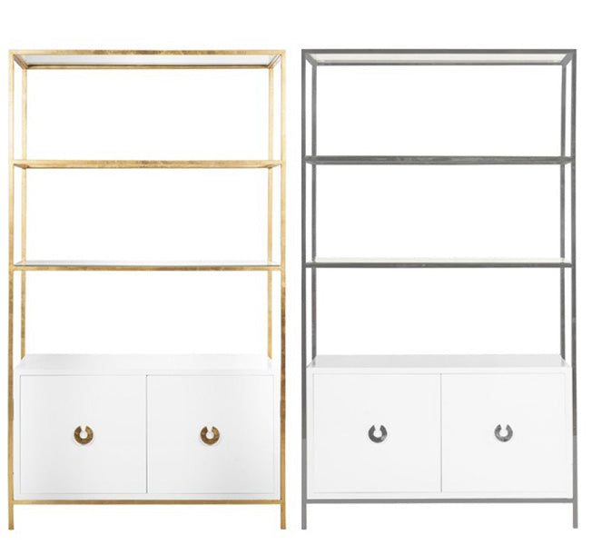 Wyatt Lacquer Cabinet - (Imported) Gold Leaf or Nickel Plated