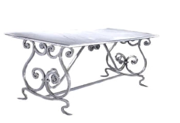 Chamonix Table 6/8 Base (Marble/Glass/Cement top)