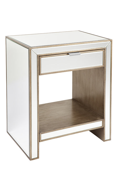 Michelle Bedside with Gold Drawers – Other Colours Available
