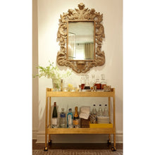 Load image into Gallery viewer, Houston Bar Cart - Nickel or Gold Leaf