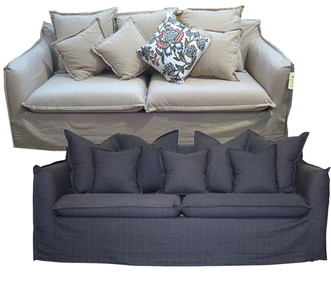 Slip Cover Hamptons Sofa – 2 or 3 Seater