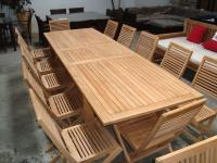 3m Teak Extension Table – Seats up to 12