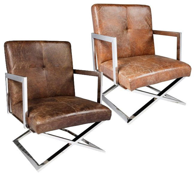 Brazilian Leather Chair – 2 Colour Options