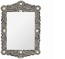 Load image into Gallery viewer, Scalloped Bone Inlay Mirror