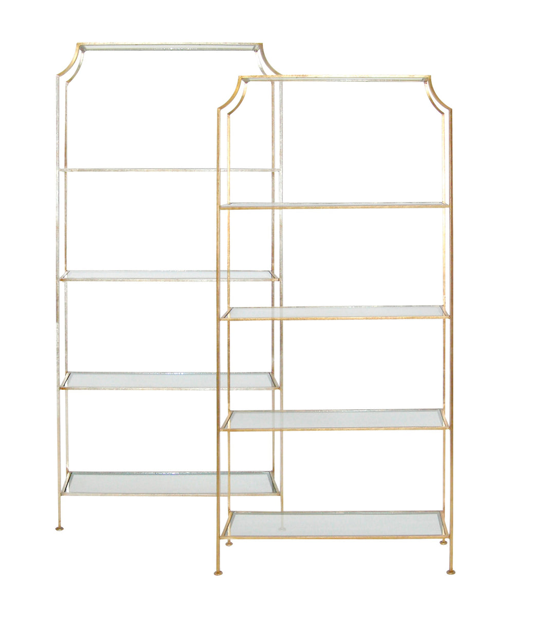 Sophie Etagere – Silver or Gold Leaf