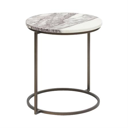 Marble Lilac Side Table