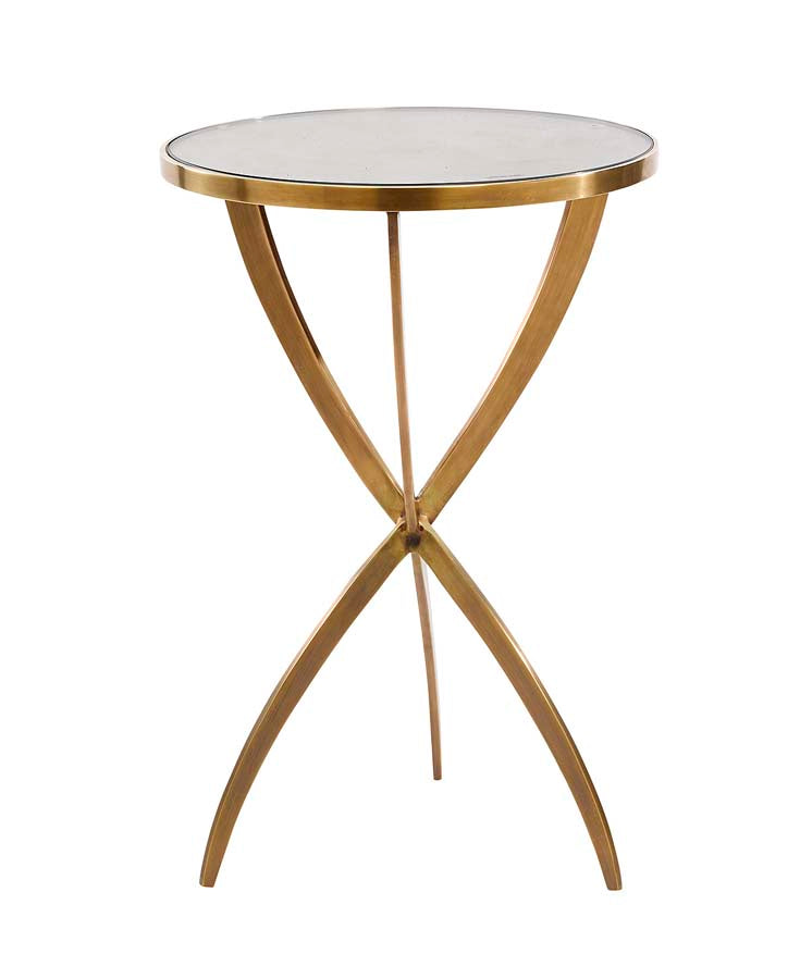 Solid Brass Tripod Table