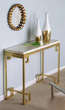 Load image into Gallery viewer, Latrobe Gold Marble Console