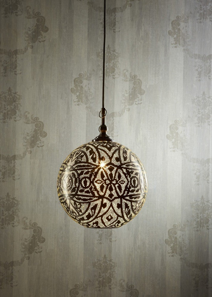 Silver Ball Ceiling Lamp