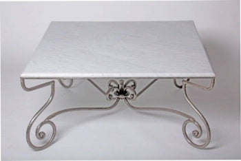 Parisian Marble or Glass Top Coffee Table