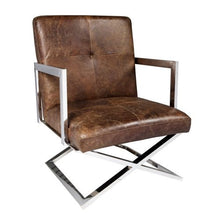 Load image into Gallery viewer, Brazilian Leather Chair – 2 Colour Options