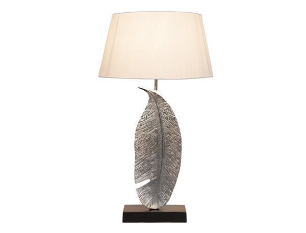 Large Nickel Leaf Lamp