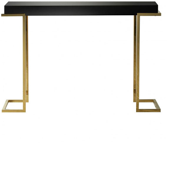 Holloway Black Mirrored Console