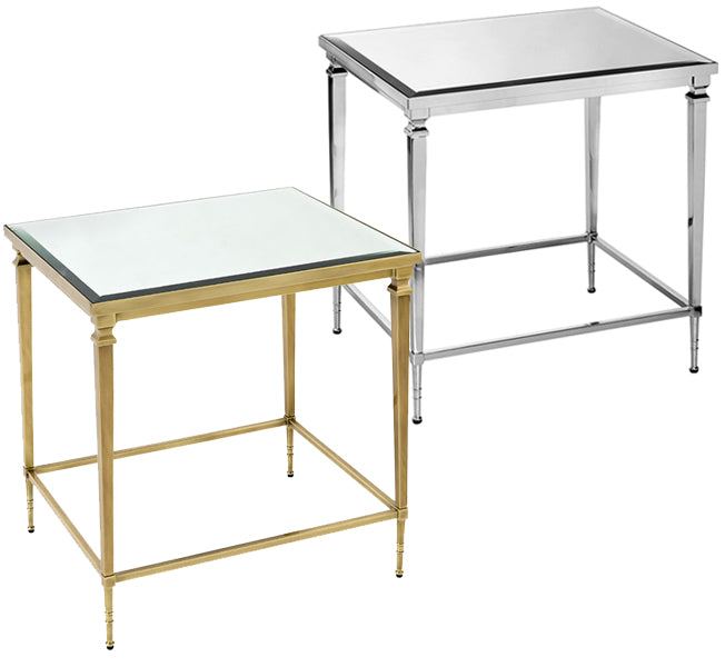 Bonnie Side Table – Nickel or Brass
