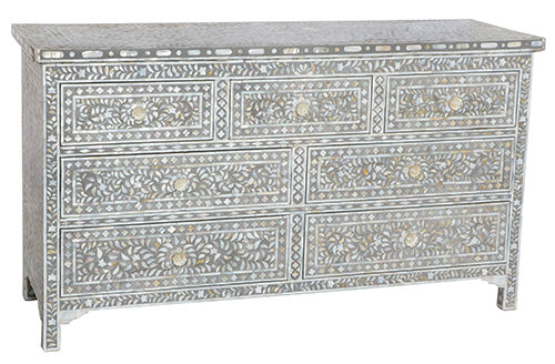 Mother of Pearl Inlay 7-Drawer Chest