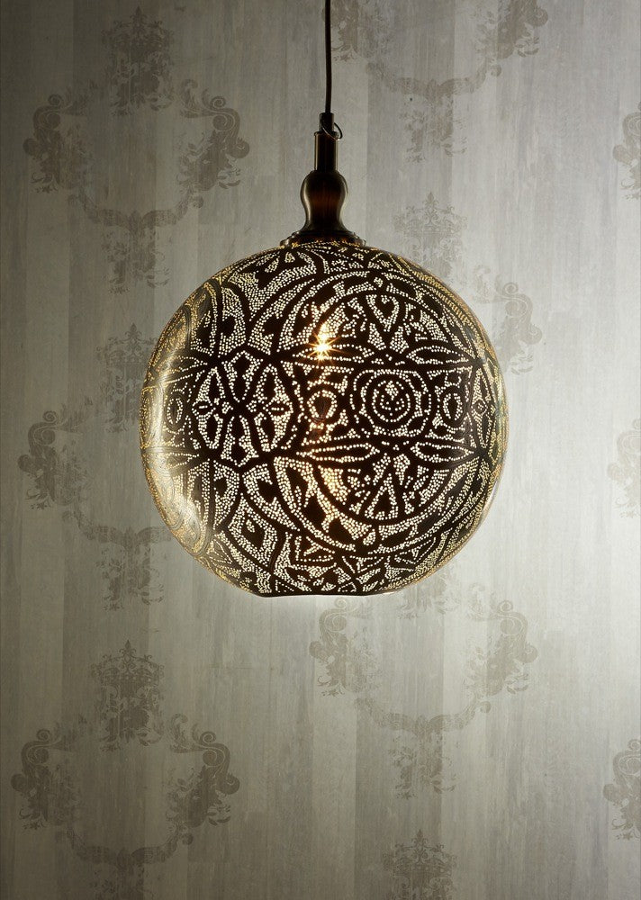 Silver Ball Ceiling Lamp 40cm