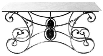 French Style Console (Marble or Glass Top options)