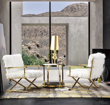 Load image into Gallery viewer, Gloria Gold Chair – Also Available in Silver