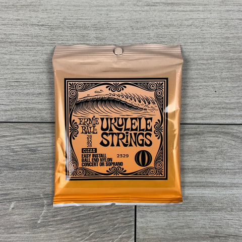 Ernie Ball 2329 Ukulele Ball End Nylon Strings, Clear, for Soprano/Concert