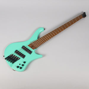 Ibanez EHB1005MS-SFM Multi Scale Headless 5 String Bass in Seafoam Green Matte