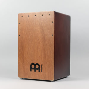 Meinl Backbeat Bass Cajon, Natural Luaun Frontplate and Wine Red Sides and Back