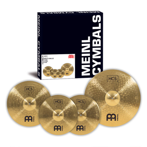 "Meinl HCS Cymbal Pack: 14"" HiHats, 16"" Crash, and 22"" Ride"