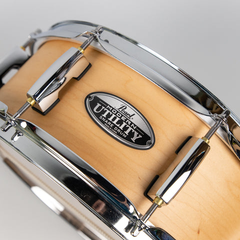 "Pearl MUS1350M/C224 Modern Utility 13""x5"" Maple Snare Drum, Matte Natural"