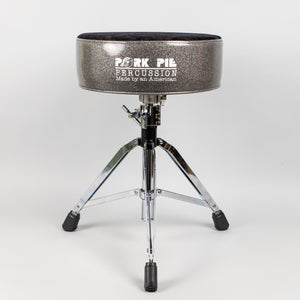 Pork Pie Round Drum Throne, Charcoal Sides/Black Crush Top