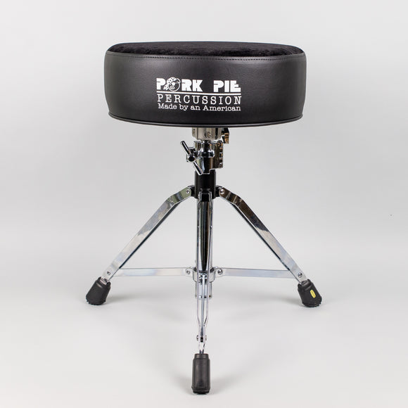 Pork Pie Round Drum Throne, Black Sides/Black Crush Top
