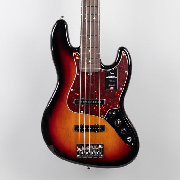 Fender American Professional II Jazz Bass V in 3-Color Sunburst